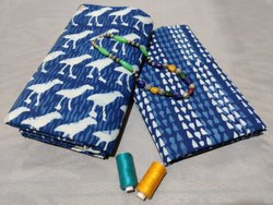 Blue Indigo Printed Suit