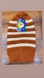 条纹羊毛棕色男帽,尺寸:免费
