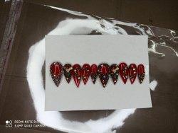Maroon Designer Artificial Nails