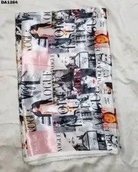 Digital Prints On Bright Satin Silk Fabric