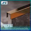 SS-304 U-Profile PVD Coated, MSI Brand, Finish Black, Gold, Rose Gold, Black, Silver, Champagne