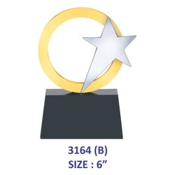 Silver Metal Star Trophy