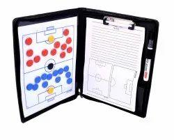 Football Coaches Tactic Board Folder with Zipper Closure
