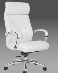 hyconindia Modern White chairs, Back Style: High Back, 21 Inch