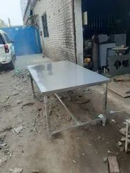 Stainless Steel Rectangular Ss Plain Table, For Kitchen