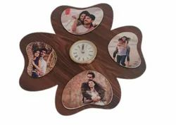 Brown Designer Wooden Wall Clock, For Home