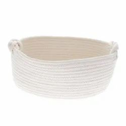 Cotton White Rope Basket