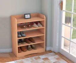 Wooden Shoe Rack, For Home, 4 Shelves
