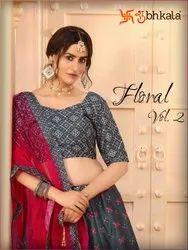 Party Wear Semi Stitched Designer Lehenga Choli