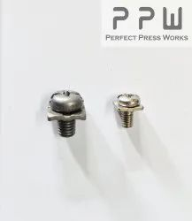 Mild Steel Full Thread Ms Screw With Washers, NICKEL,ZINC, Size: 3mm To 6mm