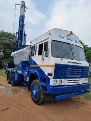1000 Feet Depth Hydraulic Truck Mounted DTH Cum Rotary Drilling Rig
