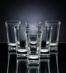 Squer Glass Transparent Water Glasses, Size: Free, Capacity: 315 Ml