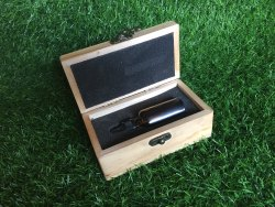 2mm Pinewood Laser Engraved Wooden Box Customized, In Client Side