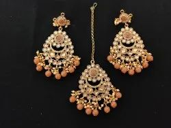 Maang Tikka With Earrings