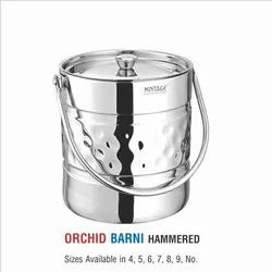 Stainless Steel Milk Pot-Orchid Plain & Laser Eteching