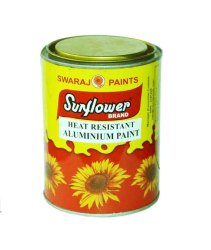 Liquid Sunflower Heat Resisting Aluminium Paint, Metal, Packaging Size: 1 Litre