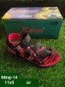 Xerox Casual Wear Boys Red & Black Pvc Sandal, Size: 11