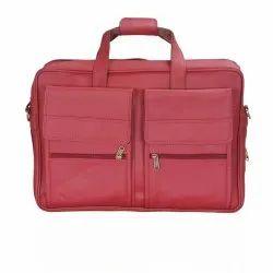 Maroon Budwing Leather Luggage Bag
