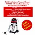 Industrial Vacuum Cleaner With Double Italian Motor