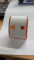 White Electric 2 Pin Travel Adapter, Model Name/Number: P0002