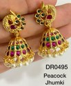 Mayur Golden Jhumka Earring