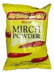 500gm Red Mirchi Powder, Packets