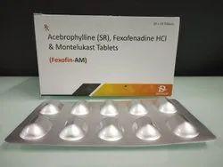Acebrophylline (SR), Fexofenadine HCL & Montelukast Tablets