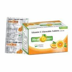 Healcee Plus Vitamin C Chewable Tablet With Zinc