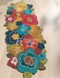 Colorful Beaded Table Runner