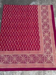 Natural Bagru Handblock Printed Cotton Double Bedsheet.