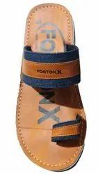 Rubber Casual Wear Footonx Men Leather Slipper, Size: 10