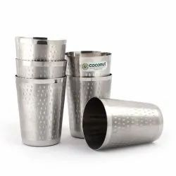 Coconut Stainless Steel A3 Glasses - Set of 6 - Capacity 320ML Each Glass