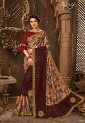 Beautiful Lycra Digital Print Saree