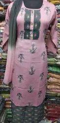 Alexia Garment Rayon Ladies Palazzo Suit, Machine wash