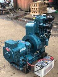 10 kva Kirloskar Water Cooled Diesel Generator, Single and 3 phase