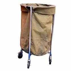 ACME 2070 SS Soiled Linen Trolley With Canvas Bag