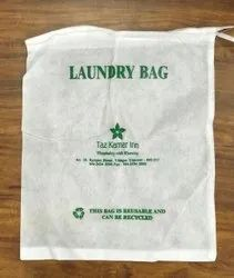 White Cotton Canvas Bag, For Hotel
