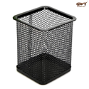 Metal Mesh Square Pen Stand Pencil Holder Stationary Table Desk Organizer For Home Office Supplies