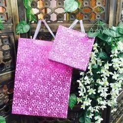 Pink Printed Paper Bags, For Packaging, Capacity: 1kg