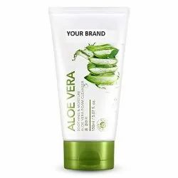 Third Party Natural Aloe Vera Face Wash, For Personal, Packaging Size: Tube