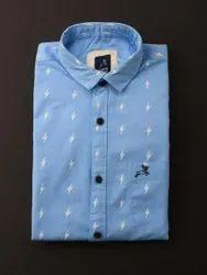 Roman Island Cotton Men Printed Shirt