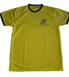 Yellow Round Neck T Shirt, Size: Medium