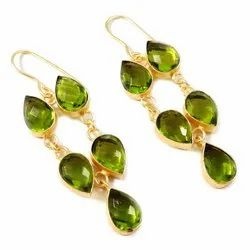 Brass Earring Artificial Jewelry, Size: 1 Inches