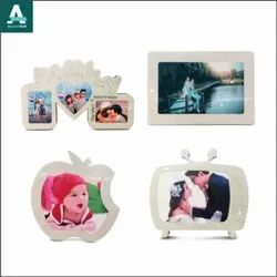 Wooden White Sublimation Photo Frame, For Gift, Size: 6 X 8