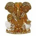 Lord Shri Ganesha Car Dashboard Statue / Showpiece with Stone