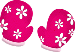 Pink Cotton Organic Baby Mittens