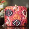 Ethnic Printed Fabric Clutch Bag