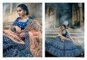 Navy Blue Art Silk Lehenga Choli With Thread, Zari And Pure Gota Work (pre-order)
