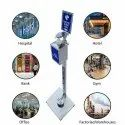 Hand Sanitizer Dispenser Stand - Stainless Steel
