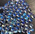 100% Natural Blue Moonstone Cabochon, Handmade Gemstone Moonstone, Eye Clean Moonstone Cabochon